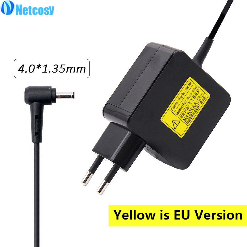 Netcosy 4.0*1.35mm 19V 2.37A 45W Power AC Adapter Charger For ASUS ZenBook UX21A UX31A UX32A UX32V UX42 U38D UX31LA Laptop 45w 19v ac power adapter charger for toshiba satellite c55 a5281 new genuine []
