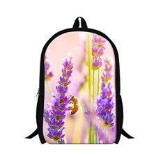 flower canvas printing backpack women mens backpacks children school bag carton shoulder travel bag