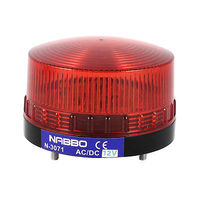 Industrielle DC 12 V Mini LED Rouge Indicateur Avertissement Lumière Flash Signal Lampe N-3071