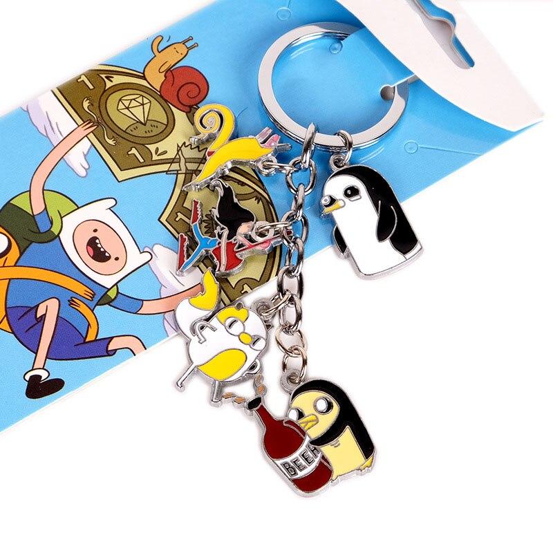 Время приключений аниме Двусторонняя брелок ручной работы ПВХ брелок мультфильм милый 2018 новых подарок для мальчиков и девочек