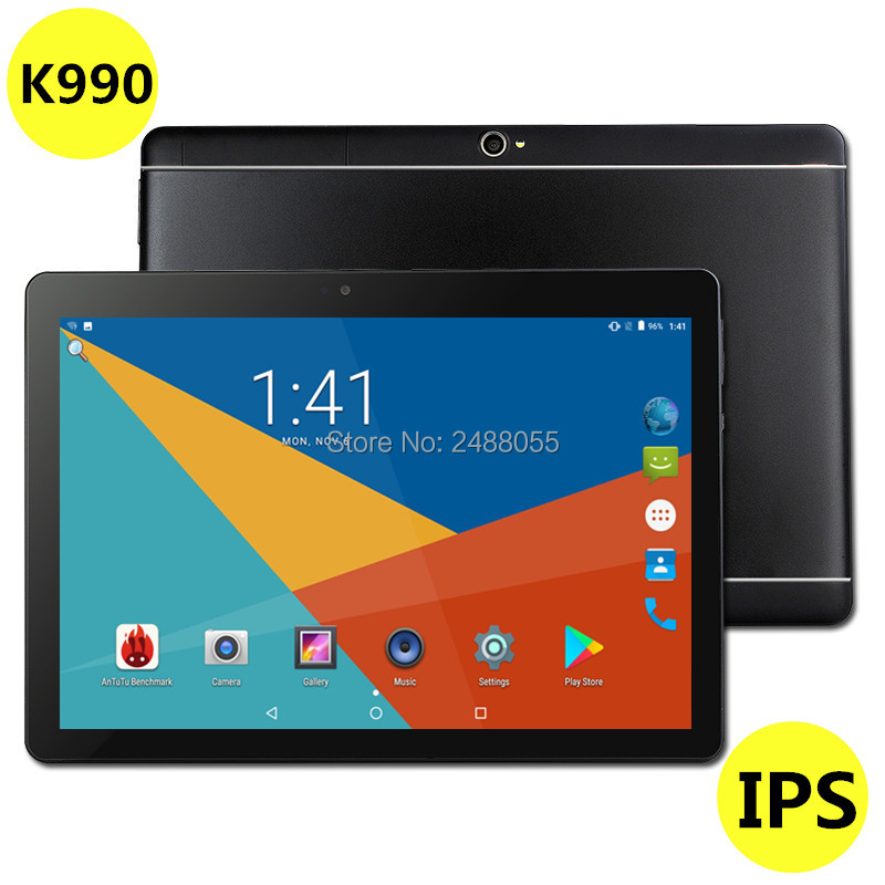 2019 Nouveau 10 pouces Octa Core 3G/4G Tablet pc 4 GB RAM 64 GB ROM Double caméras Android 8.0 Comprimés 10.1 pouces Livraison Gratuite