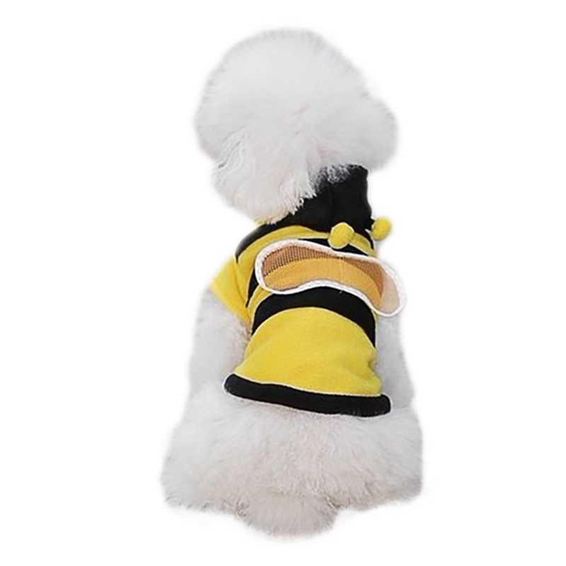 Kleine Hund Pullover Bee Cosplay Pet Hund Kleidung Vier-beine Hoodie Mäntel Baumwolle Welpen Kleidung Outfit Für Chihuahua Französisch bulldog