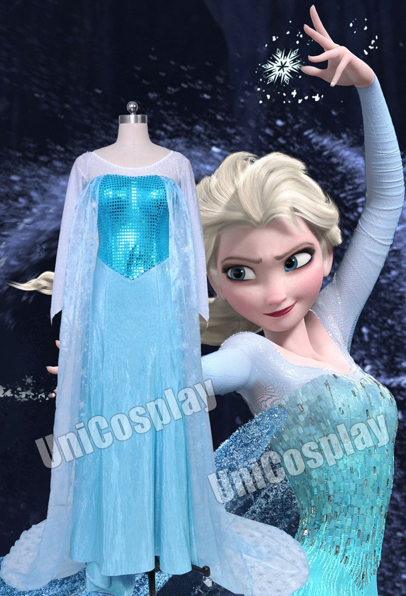 online kaufen gro handel elsa kleid cosplay aus china elsa kleid cosplay gro h ndler. Black Bedroom Furniture Sets. Home Design Ideas