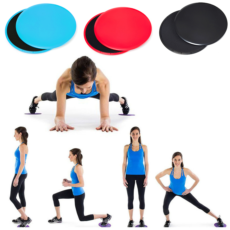 2PCS Fitness Gym Slider Fitness Discs Exercise Gliders Discs Core Plate For Exercise Gym Yoga Training Slimming Abdominal heart fitness by exercise