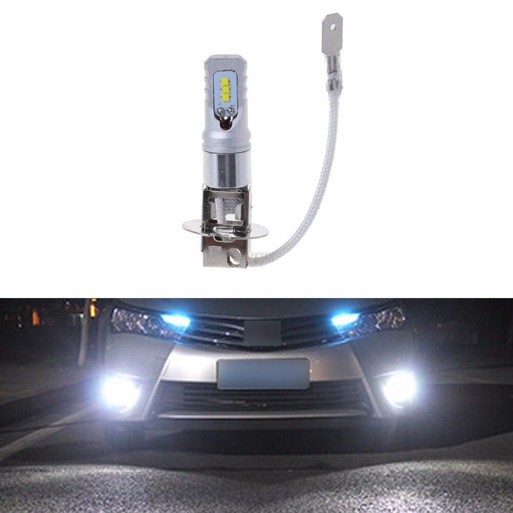 1pc Super Bright H3 LED Car Fog Lamp 80w bulbs DC12V-24V 6000K White 2018 NEW JUN04 Dropshiping
