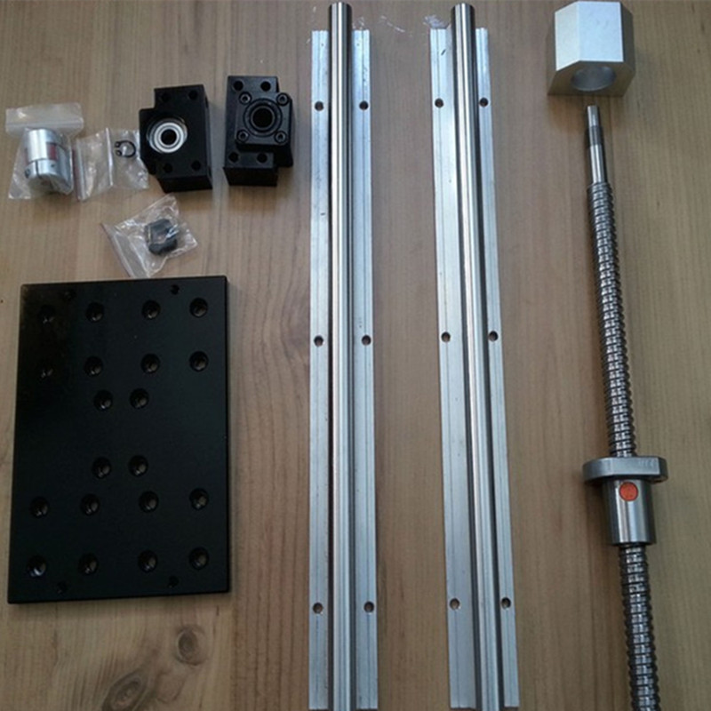 3 LINEAR RAIL SBR16-300/600/1000mm sets +3 ball screws 1605+3BK/BF12 +1 PCS Module plate for DSG16H+1 pc power supply 350w 36v 3 linear rail hb20 300 600 1000mm sets 3 ball screws rm1605 300 600 1000 3bk bf12 3 nut housing 3 rb couplers for cnc