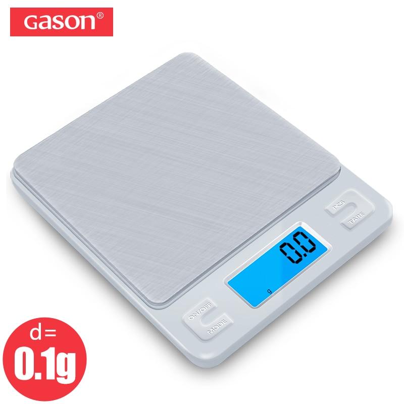 GASON Z1 Digital Kitchen Scale Mini Pocket Stainless Steel Precision Jewelry Electronic Balance Weight Gold Grams 3000gx0.1g