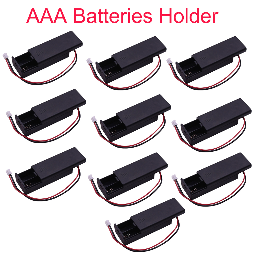 10pcs For micro bit Battery Holder Case Cover Shell for 2pcs AAA Batteries 3V PH2 0 for Microbit Development Board Kids FZ3226