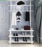 Coatrack hallway shelf. Multi function bedroom clothes hanger