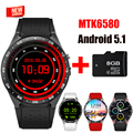EDWO KW88 Bluetooth Smart Watch Android 5.1 MTK6580 Quad Core Support SIM Card Smartwatch For iOS Android PK Finow X5 X3 Plus