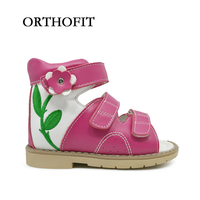 d9f782fc18 Lastest Design Lovely Flower Genuine Leather Kids Orthopedic Shoes Baby Girls  Sandals With High Quality