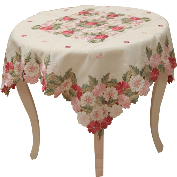 Flower Design On Cloth | Tablecloth Embroidery Table Cove Table Cloth 85 85cm 36 36 Inch