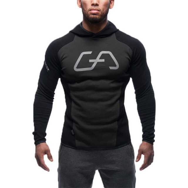 NEW Gymshark Hoodies camisetas  masculina hombre coat Bodybuilding and fitness hoodies Sweatshirts Muscle men's sportswear