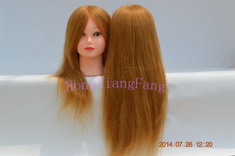 Бесплатная доставка Манекен Manequin косметологии манекен головы 18 дюймов 100% блондинка Человеческие волосы Обучение манекен головы с Человече...