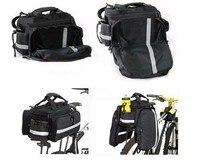 High Quality 2014 New Waterproof MTB Mountian Bike Cycling Bicycle Rear Seat Bag Handbag Pannier Black Free shipping BG0053