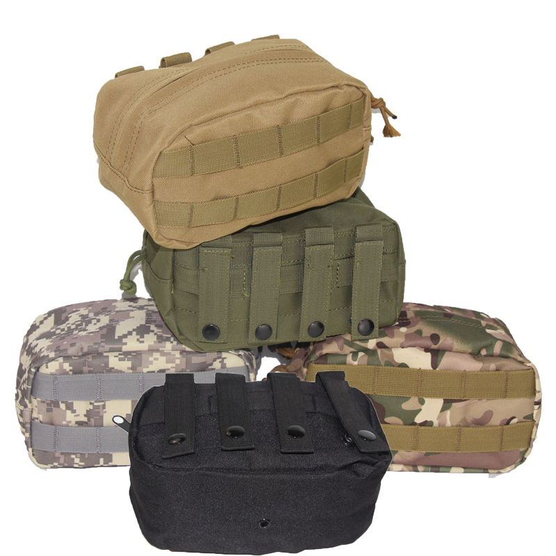 Outdoor Tactical Horizontal Molle Pouch Waist Tactical Emergency Survival Pockets Recovery Camping Airsoft Drop Tool Phone Pouch