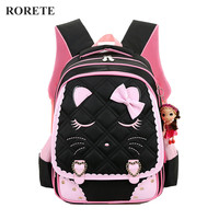 Kids Cartoon School Bags Children Backpacks Waterproof Nylon Girl Orthopedic School Bag Printing Backpacks Book