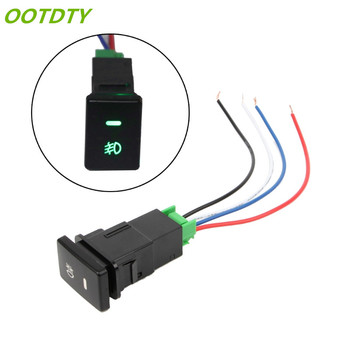 OOTDTY DC 12V Front Fog light Push Switch 4 Wire Button For Toyota Camry Prius Corolla auto steering wheel audio control button switch for toyota hilux vigo corolla camry highlander innova