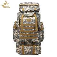 Camouflage Outdoor Sport Tactical Military Backpack Army Bag Camping Hiking Backpack Men Climbing Bag Backpack Waterproof men zip front camouflage detail backpack