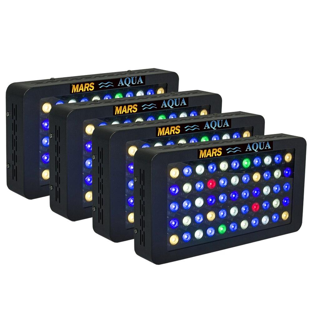 4 pièces Mars Aqua 165 W Dimmable lumières LED d'aquarium pour récif de corail, éclairage de LED pour aquarium à spectre complet