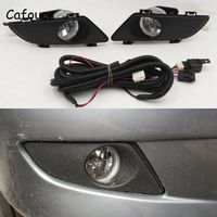 Cafoucs For Mazda 6 2003 2004 2005 Front Fog Lights Halogen Lamp With Wiring Cable Kit