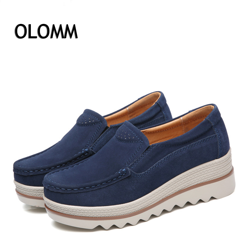 Autumn Shoes Woman Flat Women's Leather Ladies Shoes Casual Breathable Ladies Shoes Slip-On Women Loafers Chaussures Femme цена