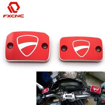Aluminiowy cnc do motocykla hamulca sprzęgło płynu paliwa zapasowa pokrywa pokrywa dla Ducati Monster 695 696 S2R 800 795 796 759