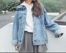 Denim jacket female long sleeve 2019 new retro casual shirt