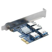 4 Slots PCI-E 1 um 4 PCI Express 16X Slot External Riser-karten-adapter Bord