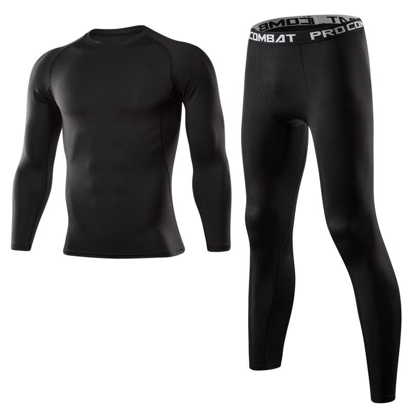 Hommes Gym Fitness vêtements Sportswear séchage rapide Compression costumes hommes course ensemble Fitness serré Sport costume hommes plein air Jogging