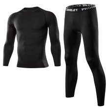 Men Gym Fitness Clothing Sportswear Quick Dry Compression Suits Men's Running Set Fitness Tight Sport Suit Men Outdoor Jogging цена и фото
