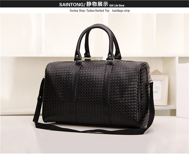 New Fashion Luggage   Travel Bags Faux Leather Men s Travel Bag Men Large Duffle  Bags Women s Weekend Bag Big Tote Free Shipping-in Travel Bags from Luggage  ... 85ca9a41d1