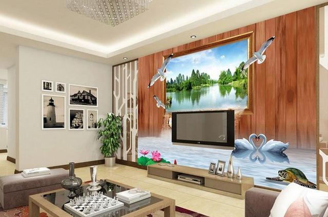 3D Three Dimensional Frame Landscape Backdrop Window Mural
