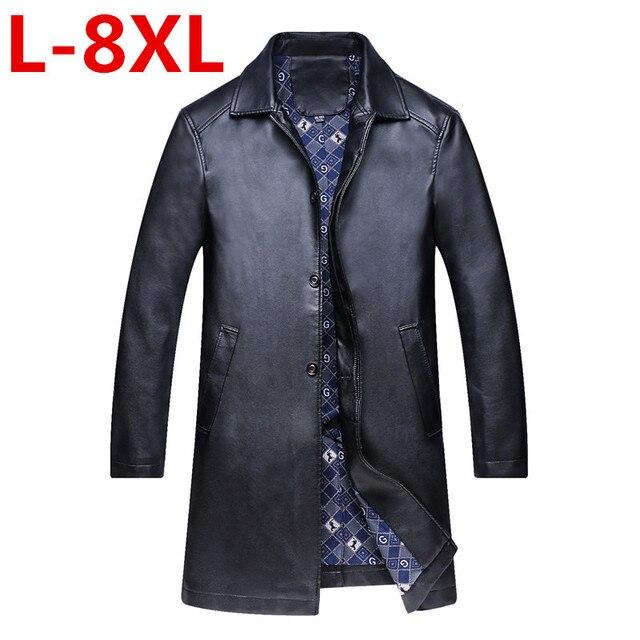 74fec9fb6b52 Tamanho grande 8 XLleather, jaqueta de Couro Genuíno, Gola Mandarim, Pele  De Carneiro