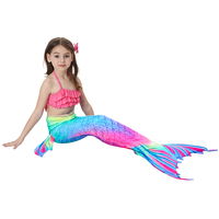 3 PCS Set Kid Mermaid Tails with Monofin Kids Girls Costumes Mermaid Tails for Swimming Halloween Costume for Kids Anime Cosplay