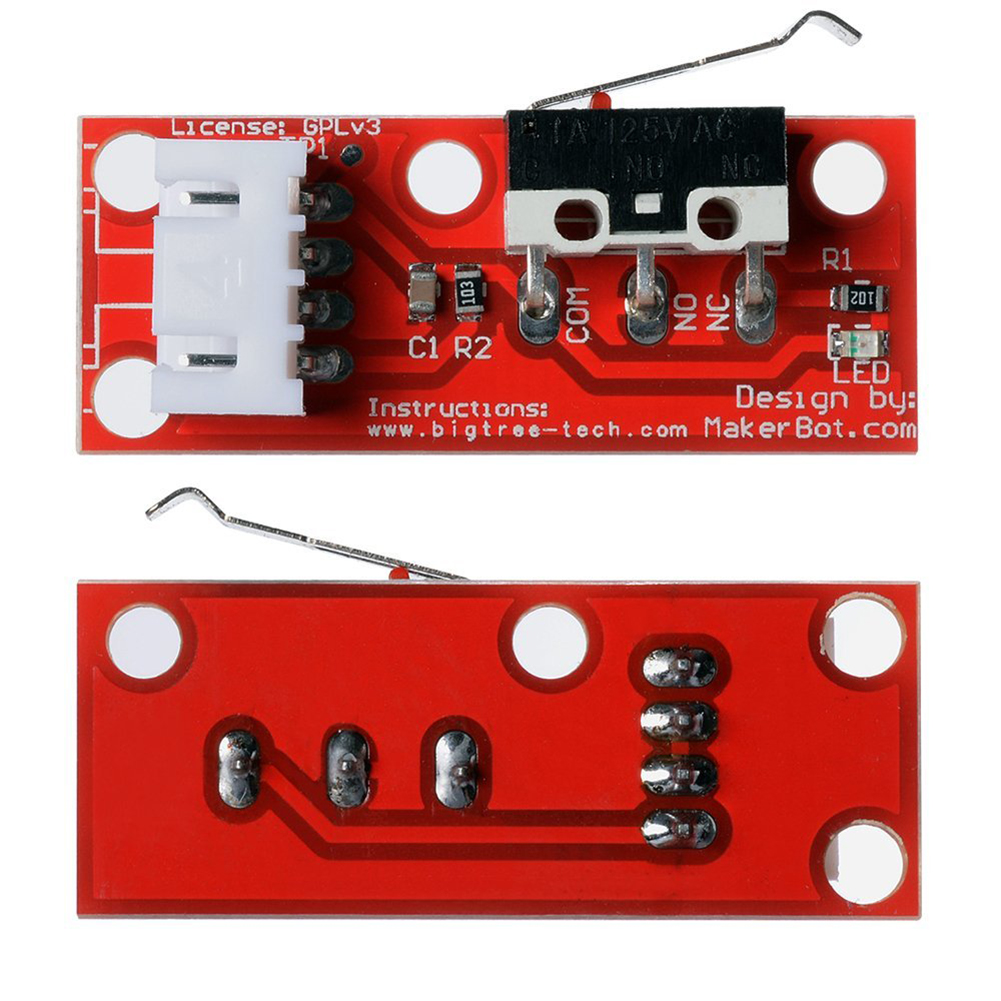 5x Red Mechanical Endstop Switch With Cable For 3d Printer Makerbot Bolcom How To Create Printed Circuit Board Pcb Simple Aeproductgetsubject