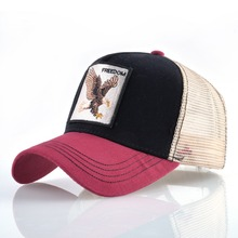 TQMSMY Summer Unisex Hip Hop Embroidered Animal Men Baseball Caps Women Breathable Mesh Snapback Hats Men's Trucker Hats Cap