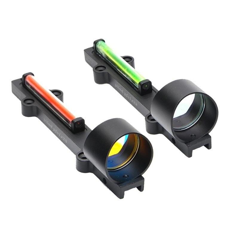 Magorui Red Green Fiber Red Dot Sight 1x28 Collimator Sight Fit Shotguns Rib Rail rib knit tights