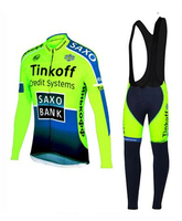 New Arrival 100% Polyester Long Sleeve Cycling Jersey/MTB Bike Clothing Bicycle Wear Tinkoff 2017 Saxo Bank Maillot Ciclismo