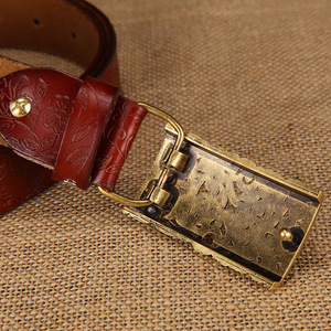 Image 3 - New ceinture female belt hand real leather women strap needle buckle casual style luxury female casual women belts