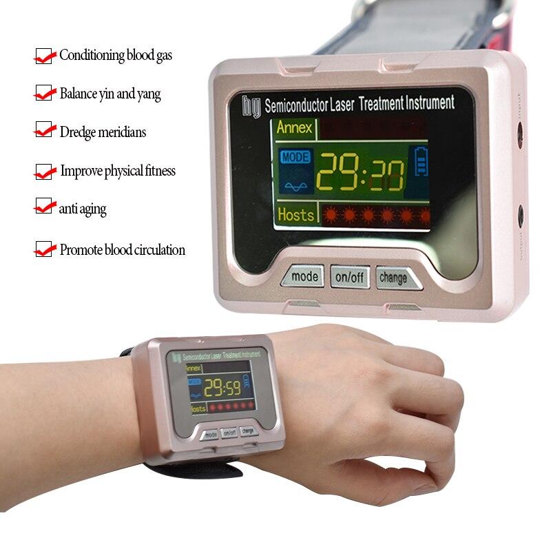 Santé des ménages laser instrument de thérapie pour traiter l'hypertension, LLLT pour le diabète, rhinite, cholestérol, thrombose cérébrale