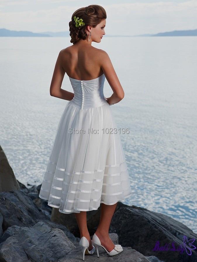 Sweetheart Wedding Dress White Knee – fashion dresses