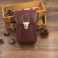 High Quality Men Genuine Leather Belt Fanny Waist Pack Cell/Mobile Phone Pocket Cigarette/Key Case  Purse Money Bag 1028