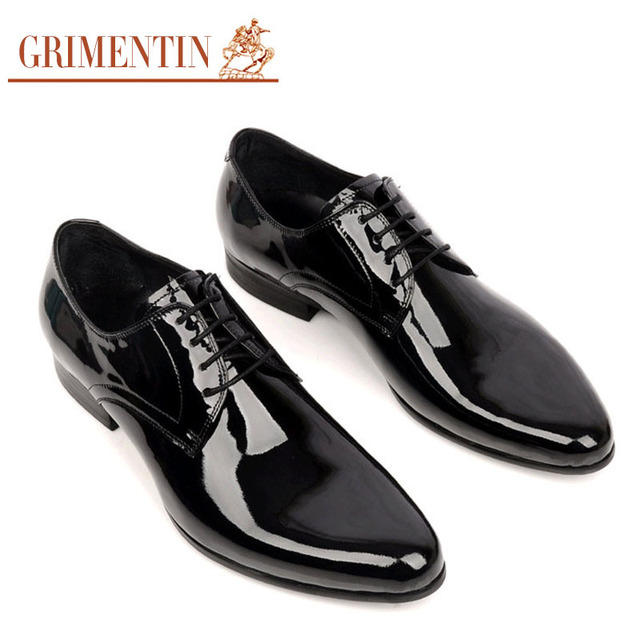 fe8ec74b12fd7 GRIMENTIN men wedding shoes genuine leather black lace up round toe Italian  luxury designer business office
