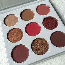 2017 NEW ARRIVAL BURGUNDY Eyeshadow PALETTE Kyshadow Kit 1 SET 9 Color iN 1 Eyeshadow Pallete