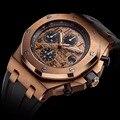 Didun hombres relojes de primeras marcas de lujo de cuarzo relojes de los hombres militar deportes relojes hombres reloj de oro rosa de acero 50 m agua resistente