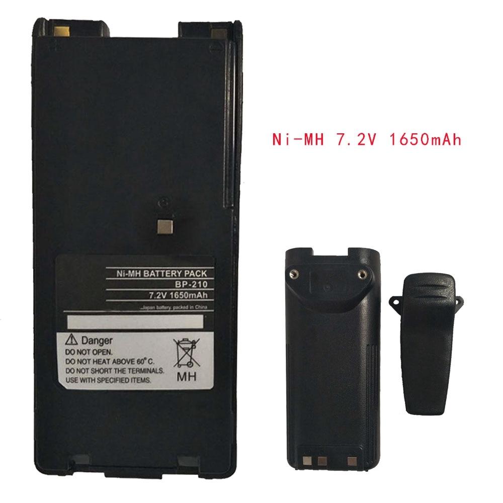 Ni-MH 7.2V 1650mAh Battery For ICOM Radio IC-F11 F11S F4GS BP-210N