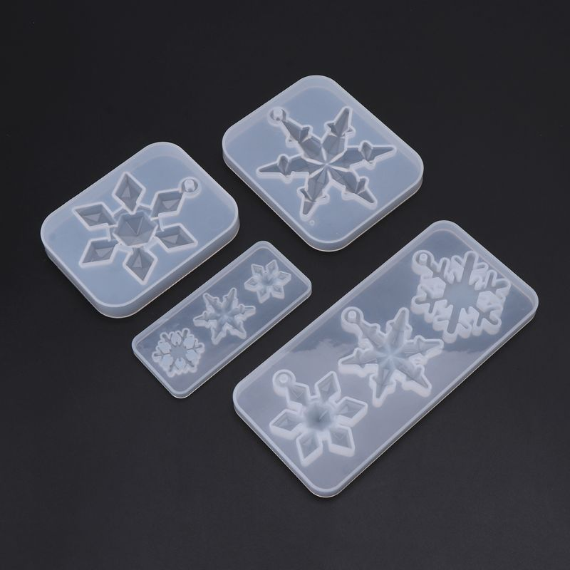 Silicone Mold Mirror DIY Snowflake Handmade Crafts Epoxy Resin Gifts Molds Silica Jewelry Making Pendant Crystal Necklace Decora