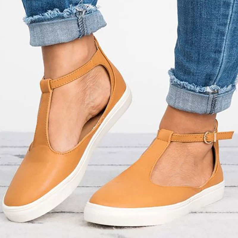 COSIDRAM New 2018 Summer Women Sandals Fashion Women Closed Toe Flat Shoes Solid Female Footwear Breathable Plus Size SNE-065