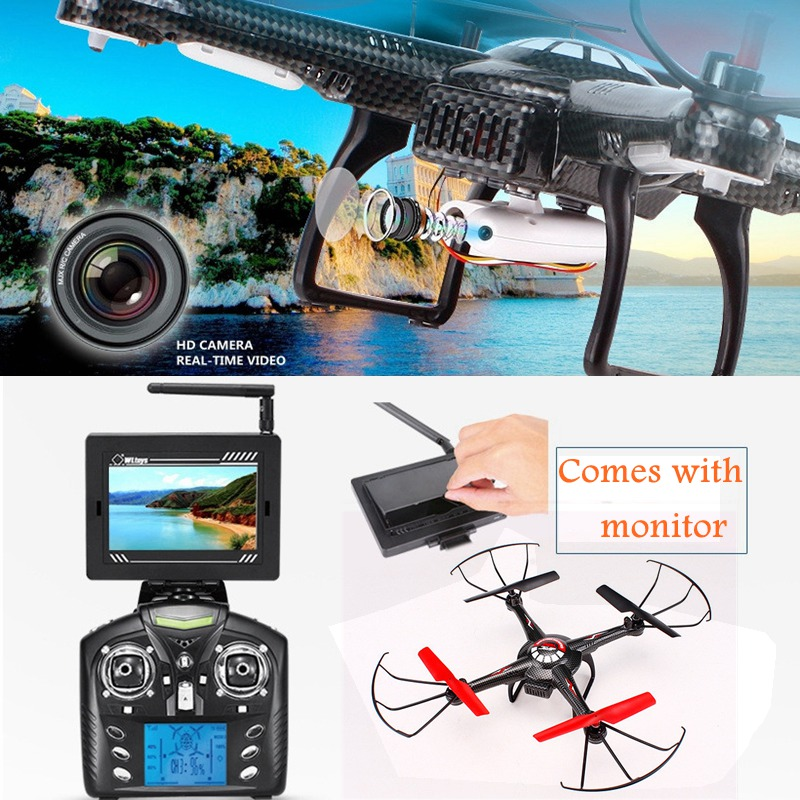 Fpv Quadcopters With Monitor Rc Drones With Camera Helicopter Remote Control Toys Professional Toys Flying Copter Oyuncak quadcopters h6d fpv mini drones with camera hd with camera flying helicopter camera professional drones jjrc rc toys dron copter
